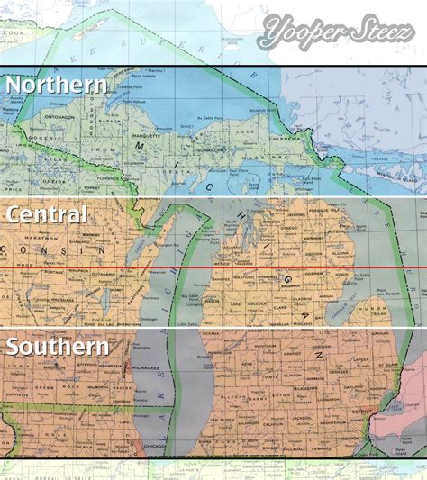 map of northern mi what actually determines quot northern quot michigan