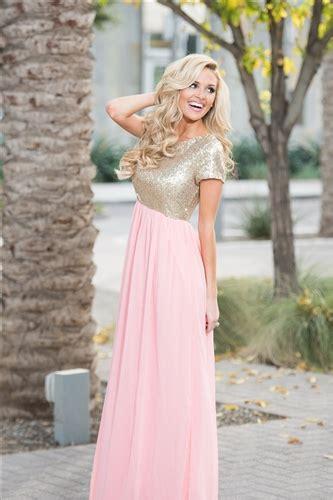 rose pink gold sequin maxi dress beautiful modest