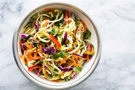 noodle salad recipes asian zucchini noodle salad recipe simplyrecipes com