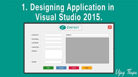 design application visual studio 1 how to create simple c desktop application designing