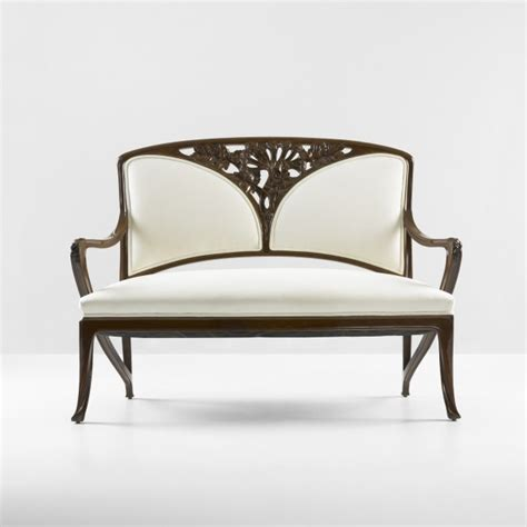 art nouveau sofa louis majorelle 1859 1926 settee carved walnut with