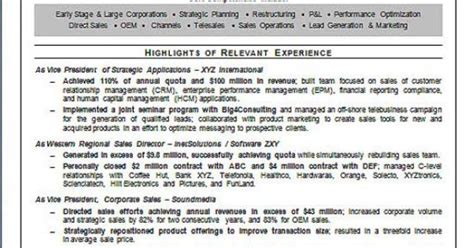 software sales executive resume exle executive resume resume exles and software