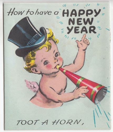 happy baby new year vintage fold out happy new year baby greeting card