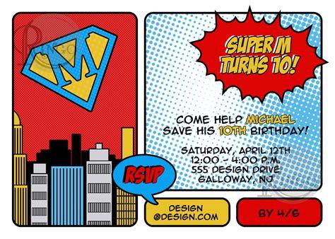 homemade superhero invitations make your own invites
