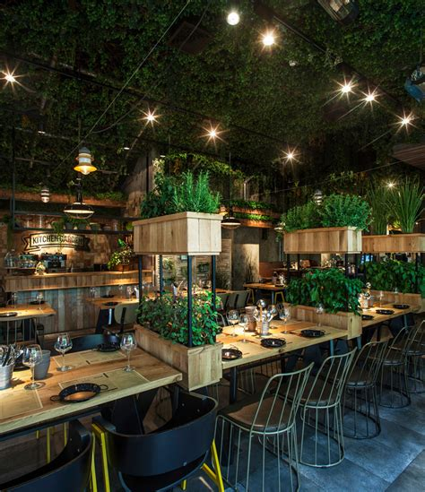 Garden Of Restaurant by Restaurants With Striking Ceiling Designs