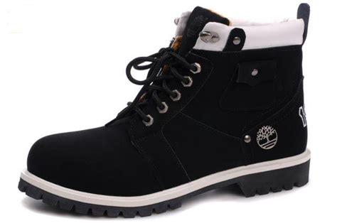 mens black and white timberland boots guaranteed waterproof black white timberland mens 6 inch