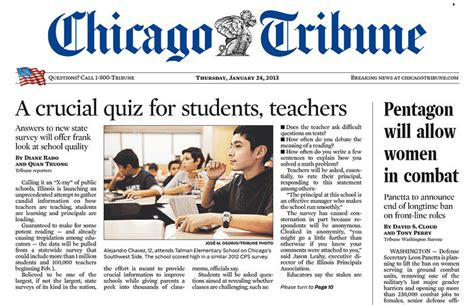 front page headlines education institute