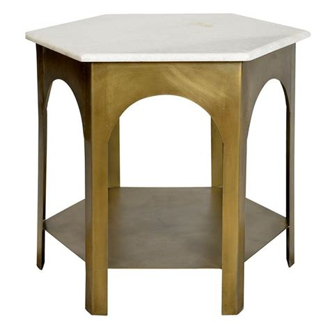 Dovetail Handcrafted Furniture - the iron marble side table by dovetail is part an eclectic