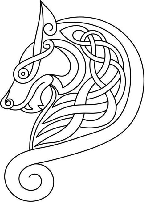 viking pattern meaning wolf head anglo saxon viking stuffs pinterest
