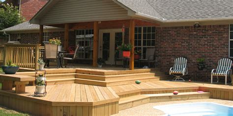 backyard patios and decks construction contractor decks out buildings additions