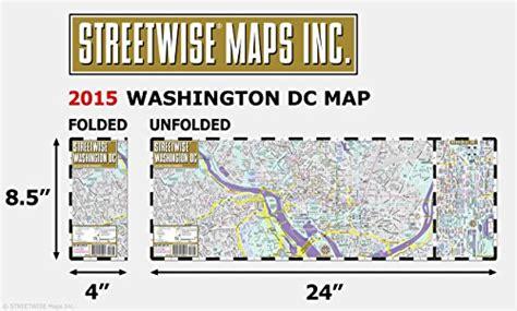 washington dc laminated map streetwise washington dc map laminated city center