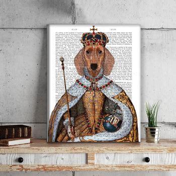 Dachshund Print Dachshund Queen By Fabfunky Home Decor | dachshund print dachshund queen by fabfunky home decor