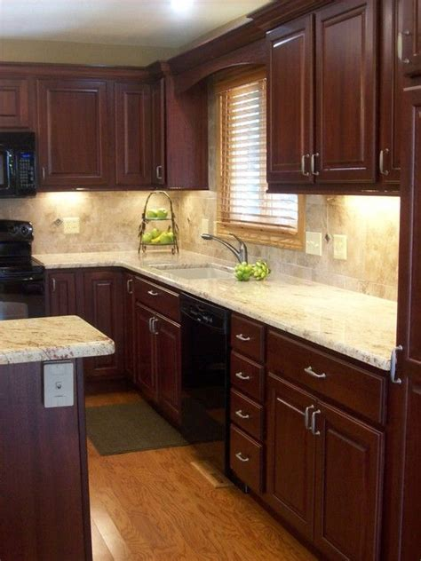 cherry kitchen decor traditional kitchen cherry cabinetry design pictures