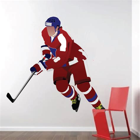 hockey wall stickers hockey player wall decal mural sports stickers primedecals