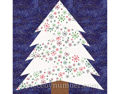 pattern for paper pieced christmas tree pine tree quilt block pattern paper piecing quilt pattern