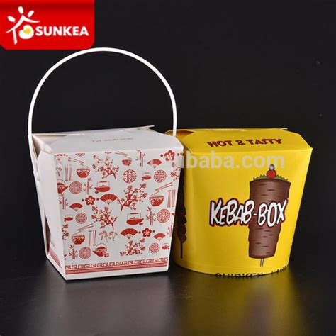 Paper Lunch Box L Lunch Box Kertas Kotak Kertas Food Container restoran cina kertas kemasan makanan kontainer kotak mie