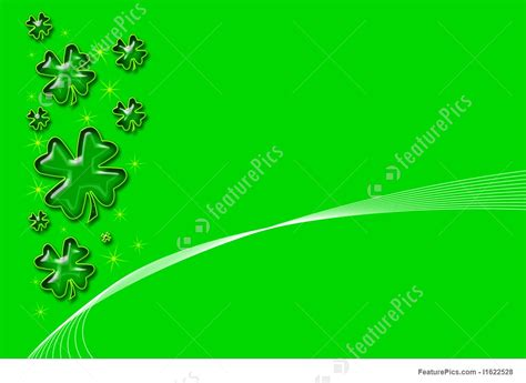 shamrock green holidays green shamrock background stock illustration