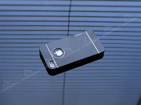 Motomo Apple Iphone 4 4s motomo iphone 4 4s metal siyah rubber k箟l箟f stoktan teslim