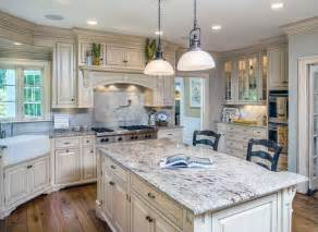 White Kitchen Cabinets With Granite 26 Gorgeous White Country Kitchens Pictures Designing Idea