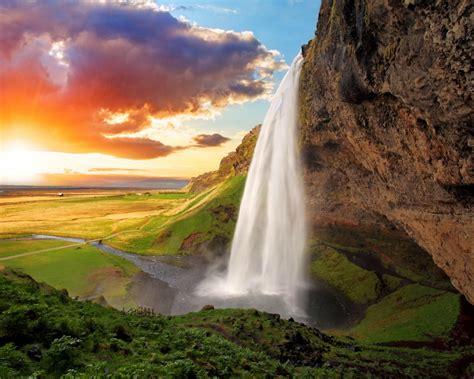 wallpaper seljalandsfoss waterfalls iceland hd