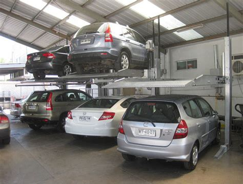residential garage parking car lift manual car parking