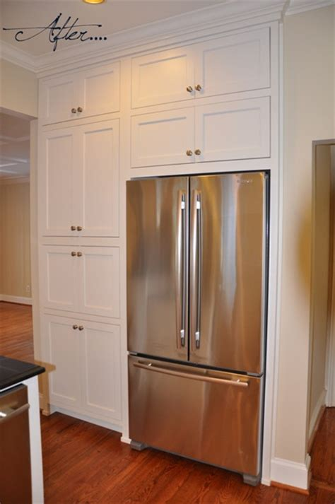 Refrigerated Pantry by Pantry Beside Fridge And Cabinets Above Another Idea