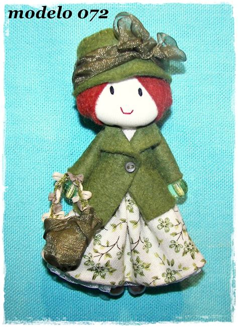 Handmade Felt Dolls - handmade felt brooch doll brooch felt pin miniature dollhouse