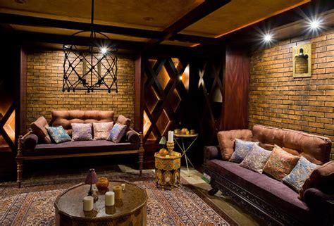 Eclectic Home Decor basement lounge