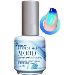mood color gel nail lechat a bit chilly match mood color changing gel