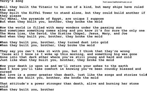 lyrics bruce springsteen bruce springsteen song terry s song lyrics images frompo