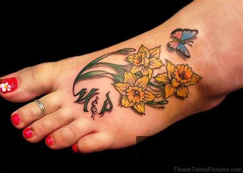 daffodil tattoos 94 dazzling daffodil flower tattoos
