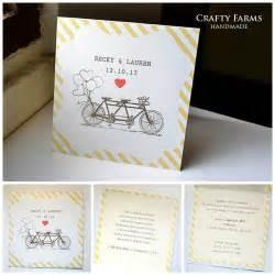 wedding invitations handmade cards wedding card malaysia crafty farms handmade vintage tandem bicycle wedding invitation card