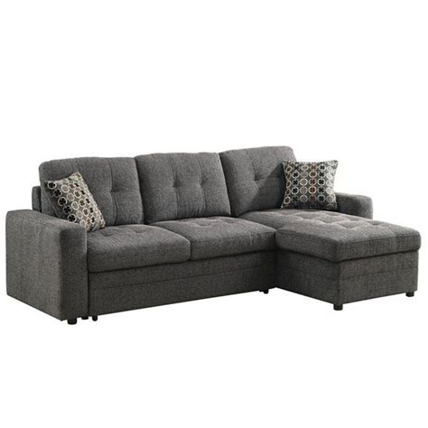 Sleeper Sofa With Chaise by Coaster Gus Chaise Sectional Storage Sofa With Pull Out