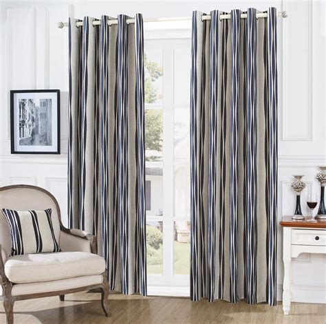 black cream striped curtains gc lym striped eyelet curtains cream black