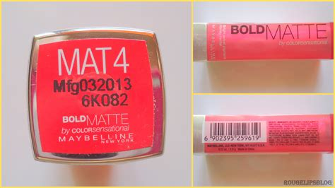 Maybelline Bold Matte Mat 4 by Maybelline Bold Matte Lipstick In The Shade Mat 4 Rougelips