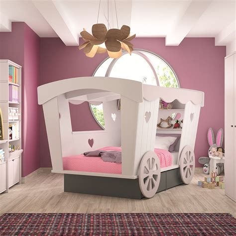 girls carriage bed kids princess carriage bed