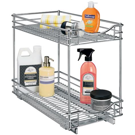 sliding cabinet organizers kitchen two tier sliding cabinet organizer 11 inch in pull out
