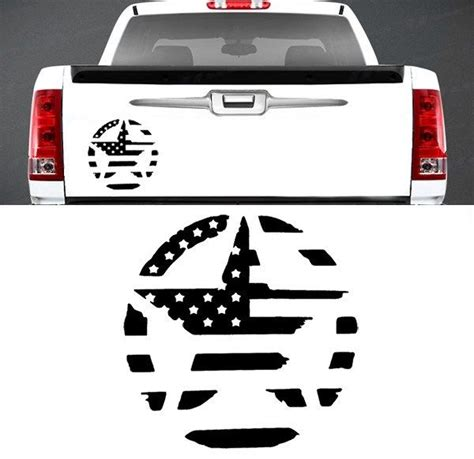 jeep american flag decal military star american flag tailgate vinyl graphic decal