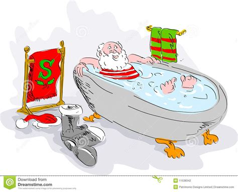santa in the bathtub santa in bath tub relaxing stock photography image 11538342