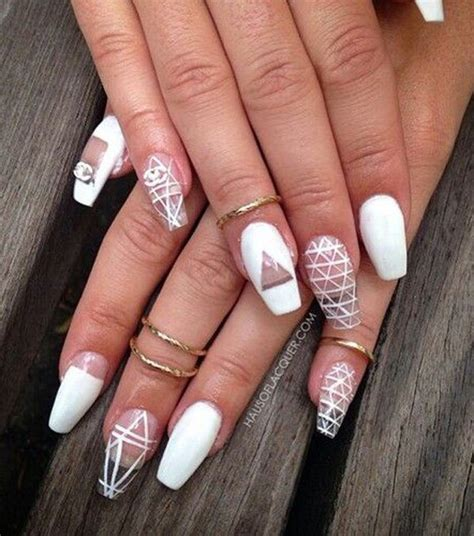 nail styles for woman in her 50s 50 white nail art ideas jewe blog