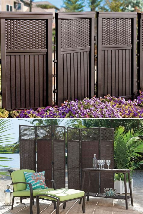 Air Conditioner Curtain Add Privacy To Your Porch With Deck Privacy Screens