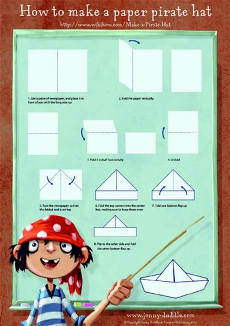 How To Make Paper Pirate Hat - the jolley rogers and the cave of doom paper pirate hat