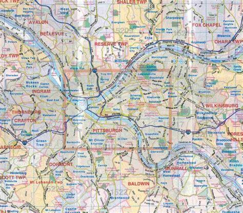 pittsburgh pa map themapstore pittsburgh pa laminated map