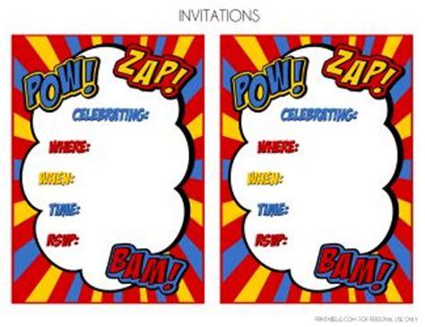 pin free printable superhero invitation border
