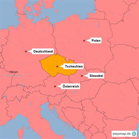 karte deutschland tschechien tschechien ggoiny landkarte f 252 r tschechien
