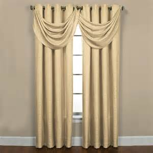 Contemporary Valance Curtains Sutton Ivory Grommet Waterfall Valance Contemporary Valances By Overstock