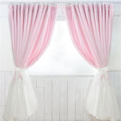 Curtain L Pink 21 ruffle curtain