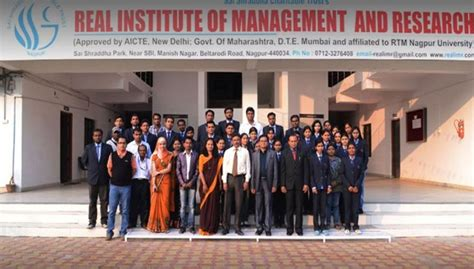 Rtmnu Mba Fees by Real Institute Of Management And Research Rimr Nagpur