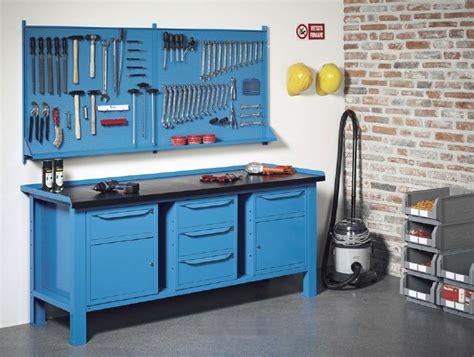 banchi per officina banchi lavoro lamiera officina industria piano legno