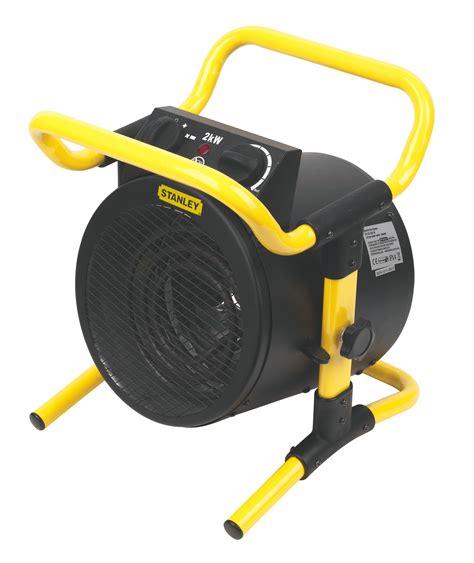 stanley electric  black yellow turbo fan heater